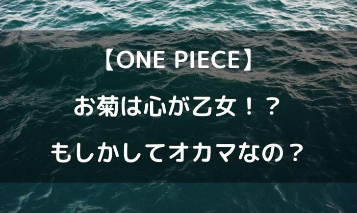 菊 男 お ワンピース ワンピース 考察